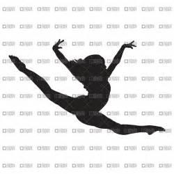 Gymnastics Silhouette Clip Art Doing a Split