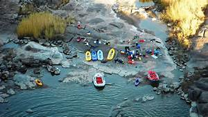 Orange River Gorge Rafting camp site · SA Forest Adventures
