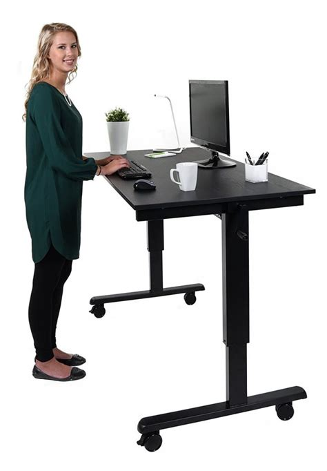 standing desk height the height adjustable standing desk crank or electric