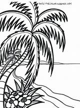 Coloring Sunrise Pages Beach Printable Adults Print Getcolorings sketch template