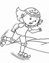 Skating Ice Coloring Pages sketch template