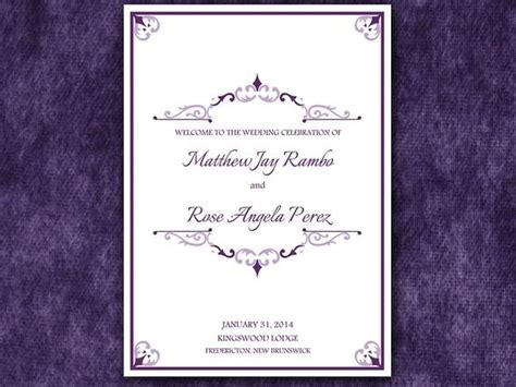 antique chic half fold wedding program template microsoft word