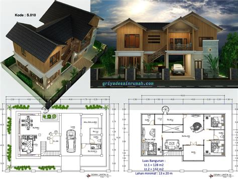 gambar rumah  lantai style villa bali tropis desain