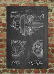 Mechanical Gearing 1912 Patent Poster  Industrial Art  Mechanical Engineer  Engineer Gift  Gears
