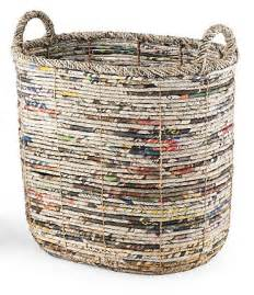 Made From Recycled Newspaper Basket