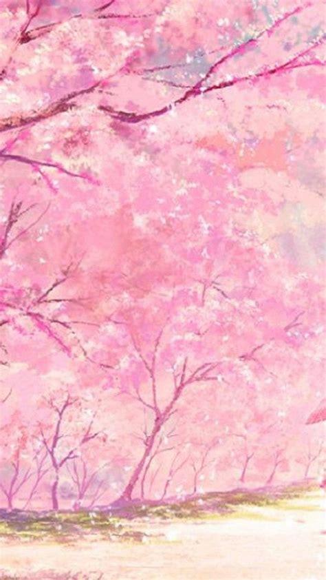 Pink Anime Wallpaper - anime pink tree kimono wallpapers desktop background
