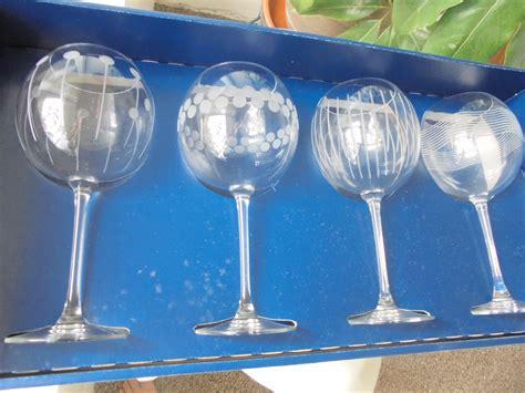 Set Of 4 Mikasa Cheers Tall Balloon Wine Glasses