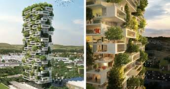 384ft apartment tower to be world s vertical evergreen forest