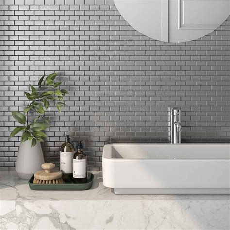stainless steel subway tile silver    mineral tiles
