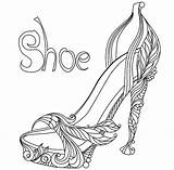 Coloring Shoes Heel Pages Drawing Shoe Adult Printable Template Sheets Colouring Adults Valentine Tap Sketch Cleats Football Basketball Jersey Getdrawings sketch template