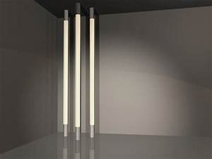 Modern lighting design that connects floor and ceiling for Modern tube floor lamp
