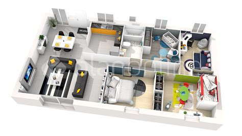 appartement 2 chambres lyon maison plan 3d villa de luxe plan of ground floor plan