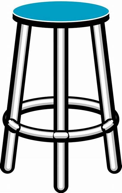 Stool Clipart Clip Furniture Chair Cliparts Bar