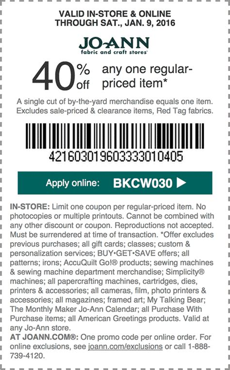 21187 Jefferson Lines Coupon Code by Joann Fabrics 40 Coupon Active Sale