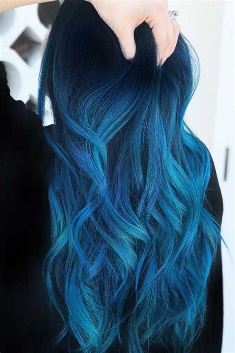 30 Tasteful Blue Black Hair Color Ideas To Try In Any