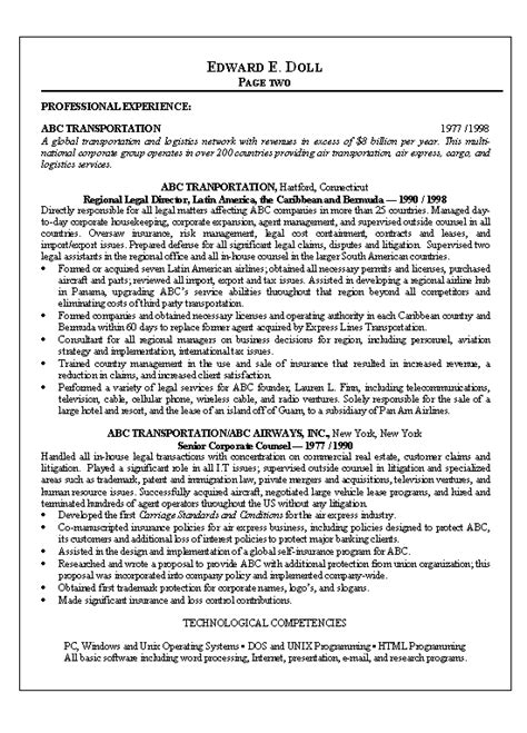 lawyer legal director resume examples cover letter