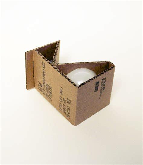 environmentally friendly light bulb packaging student