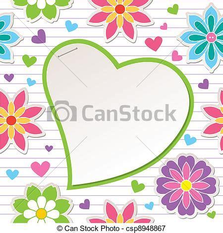 fiori cornici cornice fiori cuore cornice carta fiori romantico