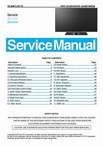 Manual De Servi U00e7o Tvs Led Aoc Le32d1442 20 E Le40d1442 20