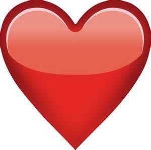 Transparent Red Heart Emoji