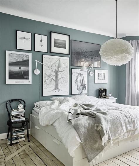 Home Decorating Ideas Bedroom Green Gray Walls  Via