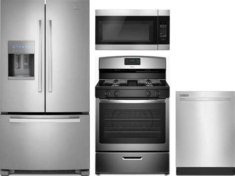 Amana Amreradwmw7 4 Piece Kitchen Appliances Package With