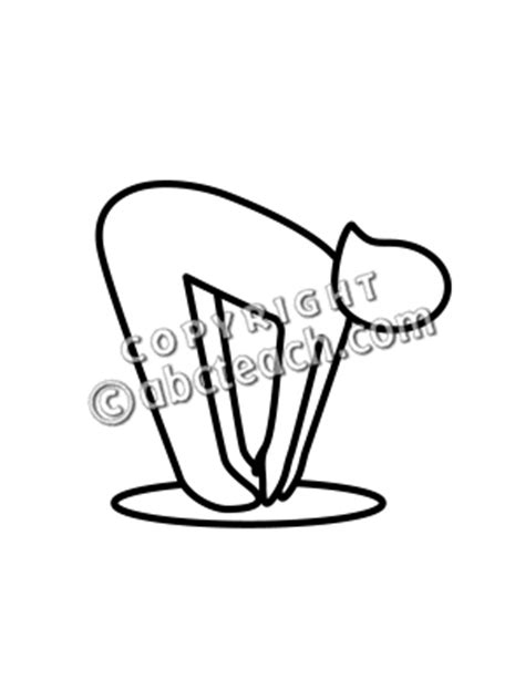 touch clipart black and white touch toes clipart 28