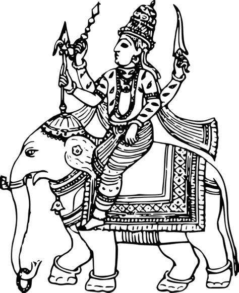 vector graphic deity god hindu hinduism indra