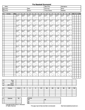 printable scorebook sheets fill  printable