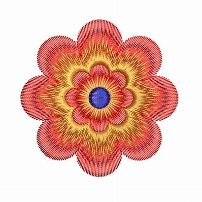 Embroidery Flower Colorful Designs