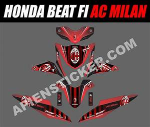 Striping Motor Beat Fi Ac Milan