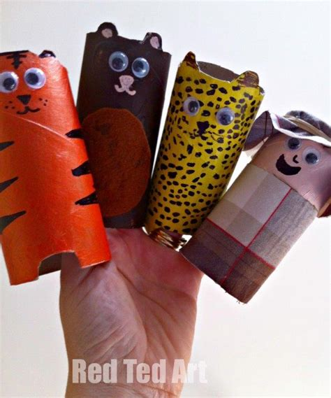 toilet paper roll animal crafts for preschool ted 677   Loo Roll Zoo
