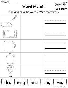 ug word family worksheets ug family worksheets ug