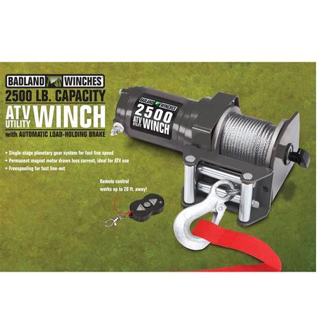 Electric Boat Winch Wireless Remote by 2500 Lb Atv Utility Electric Winch With Wireless Remote