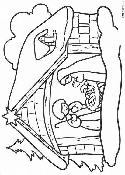 Coloring Pages Jesus Christmas Born Colouring