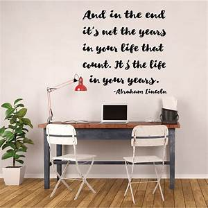 Inspirational, Quotes, Wall, Sign, Decor, -, Abraham, Lincoln, Quote, -, In, The, End