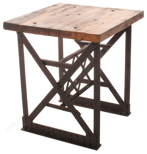 rustic wall treatments riveter 39 s industrial modern chunky wood side end table