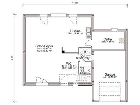 canapé en u design construction maison individuelle contemporaine iseo de 128 m2