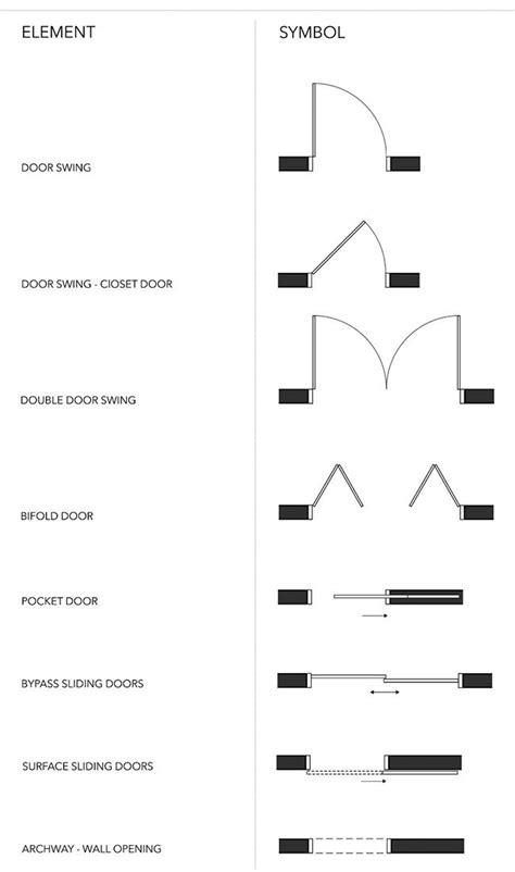 door window floor plan symbols floorplan symbols