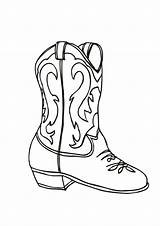 Cowboy Boot Coloring Worksheets Resources Decorated sketch template