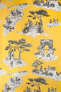 Toile De Jouy : harlem toile de jouy wallpaper sheila bridges ~ Teatrodelosmanantiales.com Idées de Décoration