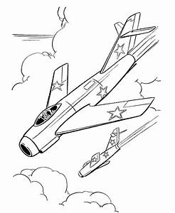 Free Military Jets Coloring Pages