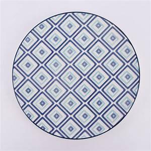 Geschirr Blau Weiß : mix and match teller keramik wei blau gr n 21cm wohnen kochen und genie en geschirr gl ser ~ Markanthonyermac.com Haus und Dekorationen