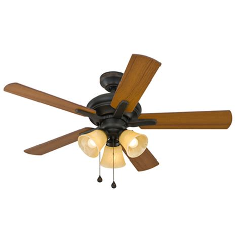 Harbor Ceiling Fans Troubleshooting Light by Shop Harbor Lansing 42 In Aged Bronze Downrod Or