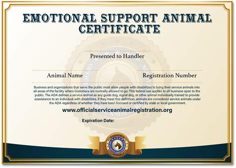 offcial esa registration esa service animal registry