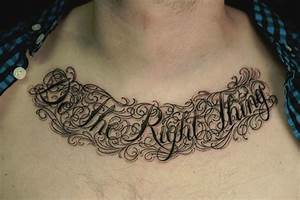 Chest Tattoo Qo... Chest Tattoo Love Quotes