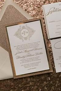 25 best ideas about gold wedding invitations on pinterest With evening wedding invitations rose gold