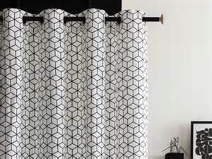 Rideau Noir Et Blanc Graphique by Rideaux Et Voilages Pour Vous