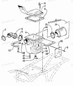 Arctic Cat Atv 1998 Oem Parts Diagram For Air Intake Assembly