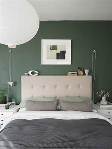 A, Simple, Soothing, Botanical, Green, Bedroom, Makeover